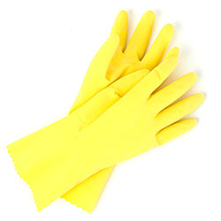 Wayne Unsupported Yellow Latex Gloves