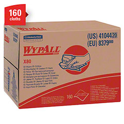"WypAll® X80 Reusable Wiper - 12.5"" x 16.8"", White"