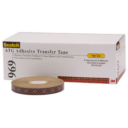 "3M 969 Scotch® ATG Adhesive Transfer Tape - 1/2"" x 36 yd"