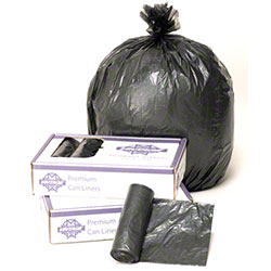 Vintage® Linear Low Density Can Liner-38x58, 1.3 mil, Blk