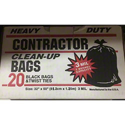 35-40 Gal. XXXHD Repro Low Density Contractor Bag - 32 x 50