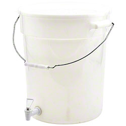 Winco® White Beverage Dispenser - 6 Gal.