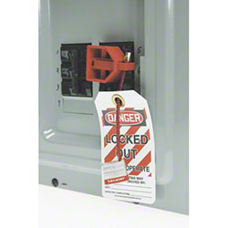Accuform Double Pole Style Circuit Breaker Lockout