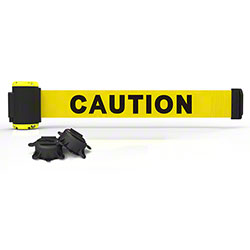 "Banner 7' Magnetic Wall Mount Barrier - Yellow ""Caution"""