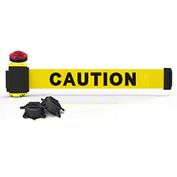 "Banner 7' Magnetic Wall Mount w/Light Kit - Yellow ""Caution"""
