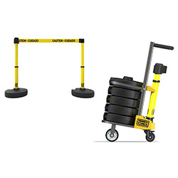"Banner PLUS Cart Package - Yellow ""Caution-Cuidado"" Banner"