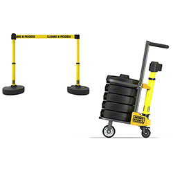 "Banner PLUS Cart Package - Yellow ""Cleaning in Progress"""