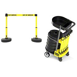 "Banner PLUS Cart Package w/Tray - Yellow ""Out of Service"""