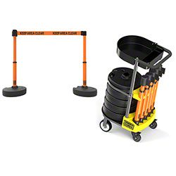 "Banner PLUS Cart Package w/Tray - Orange ""Keep Area Clear"""