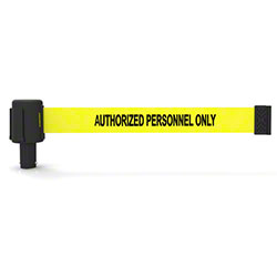 "Banner PLUS Head w/Yellow ""Authorized Personnel Only"" Banner"