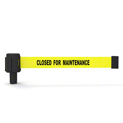 "Banner PLUS Head w/Yellow ""Closed for Maintenance"" Banner"