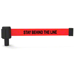 "Banner PLUS Head w/Red ""Stay Behind The Line"" Banner"