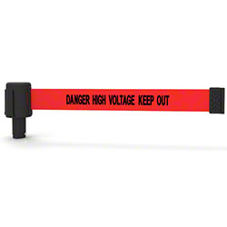 "Banner PLUS Head w/Red ""Danger High Voltage Keep Out"" Banner"