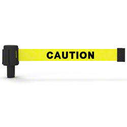 "Banner PLUS Head w/Yellow Double Sided ""Caution"" Banner"