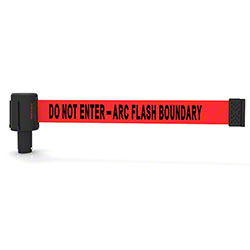 "Banner PLUS Head w/Red ""Do Not Enter-Arc Flash Boundary"""