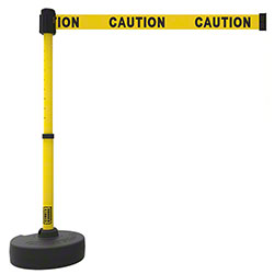 "Banner PLUS Barrier Set - Yellow Double-Sided ""Caution"""