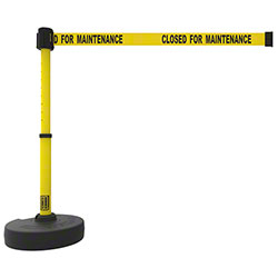 "Banner PLUS Barrier Set - Yellow ""Closed for Maintenance"""