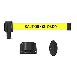 "Banner PLUS Wall Mount System - Yellow ""Caution-Cuidado"""