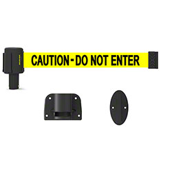"Banner PLUS Wall Mount System -Yellow ""Caution-Do Not Enter"""