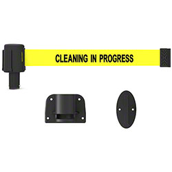 "Banner PLUS Wall Mount System -Yellow ""Cleaning in Progress"""