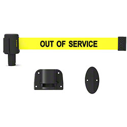 "Banner PLUS Wall Mount System -Yellow ""Out of Service"""