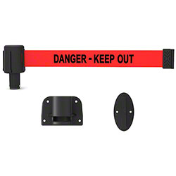 "Banner PLUS Wall Mount System - Red ""Danger-Keep Out"""