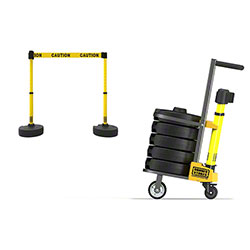 "Banner PLUS Cart Package - Yellow Double Sided ""Caution"""
