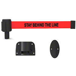 "Banner PLUS Wall Mount System - Red ""Stay Behind the Line"""