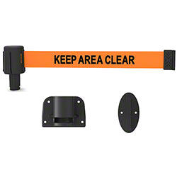 """Banner PLUS Wall Mount System - Orange """"Keep Area Clear"""""""