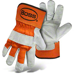 Boss® Quality Leather Double Palm Gloves