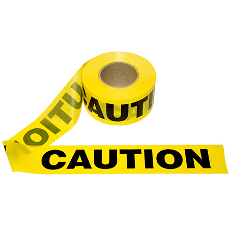 Cordova™ Yellow CAUTION Barricade Tape - 2.0 mil