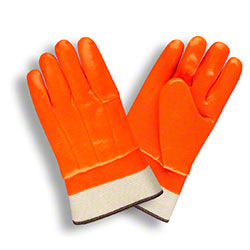 Cordova™ Orange Double Dipped PVC Glove - Men's Large