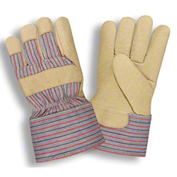 Cordova™ Striped Canvas Back Pig Leather Palm Gloves