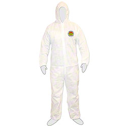 Cordova™ C-MAX™ Disposable White Coveralls