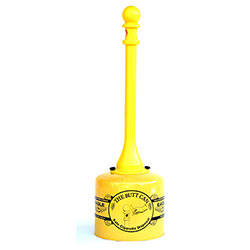 Eagle Metal/Poly Butt Can - 5 Gal., Yellow