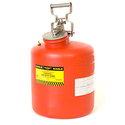 Eagle 5 Gallon Red High Density Polyethylene Safety Can