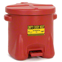 Eagle 10 Gallon Red Polyethylene Oily Waste Can