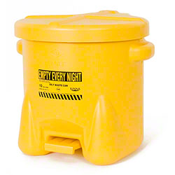 Eagle Polyethylene Oily Waste Can - 10 Gal., Yellow