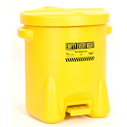 Eagle Polyethylene Oily Waste Can - 14 Gal., Yellow