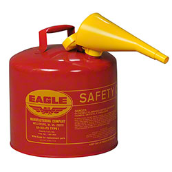 Eagle 5 Gallon Flammables Type I Safety Can w/Funnel