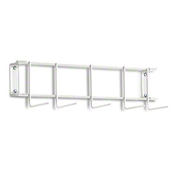 "Rack'Em™ PVC Coated Hook Rack - 17"", 5 Hook, White"