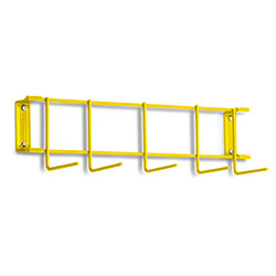 "Rack'Em™ PVC Coated Hook Rack - 17"", 5 Hook, Yellow"