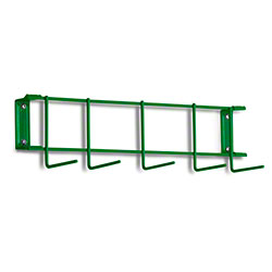 "Rack'Em™ PVC Coated Hook Rack - 17"", 5 Hook, Green"