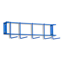 "Rack'Em™ PVC Coated Hook Rack - 17"", 5 Hook, Blue"