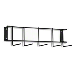 "Rack'Em™ PVC Coated Hook Rack - 17"", 5 Hook, Black"