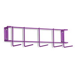 "Rack'Em™ PVC Coated Hook Rack - 17"", 5 Hook, Purple"