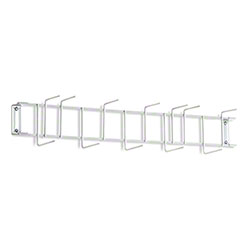 "Rack'Em™ PVC Coated Hook Rack - 26"", 12 Hook, White"