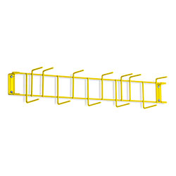 "Rack'Em™ PVC Coated Hook Rack - 26"", 12 Hook, Yellow"