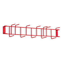 "Rack'Em™ PVC Coated Hook Rack - 26"", 12 Hook, Red"