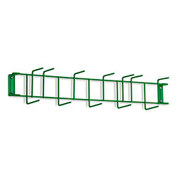 "Rack'Em™ PVC Coated Hook Rack - 26"", 12 Hook, Green"